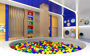 Kids area, designed by Fadia Chaker
