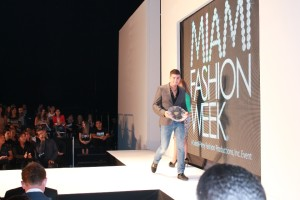"Charbel el-Khoury won the ""Emerging Women's Wear Designer"" prize at the Miami Fashion Week."