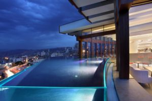 Le Gray's rooftop pool.