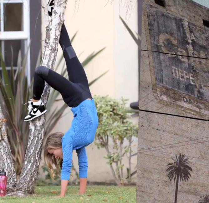 A handstand at 41, wow!