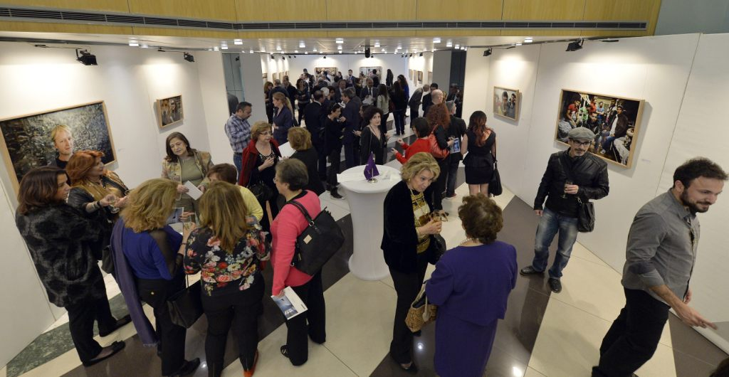 The exhibition was packed with photography enthusiasts.